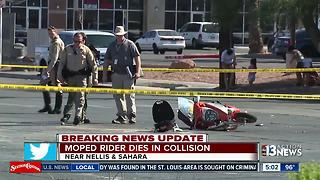 Moped rider dies in Las Vegas crash - Video