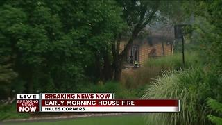 Hales Corner Home Destroyed in Fire - Video