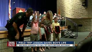 Siblings put life saving lessons to use to save brother