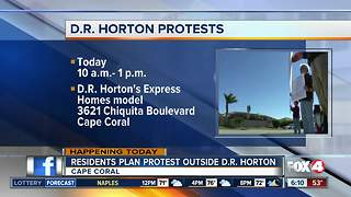 Cape Coral community planning protest against builder DR Horton - Video