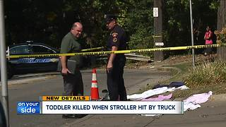 Baby dead after being hit by truck in Cleveland - Video
