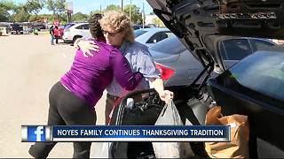 Clearwater family hands out 89 Thanksgiving dinners - Video