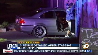 3 people detained in Mountain View stabbing