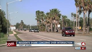 Residents share concerns over intersection - Video