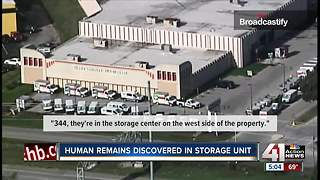 Lenexa police find human remains in storage unit - Video