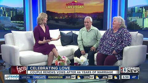 Couple renews vows on Valentine's Day after 44 years married
