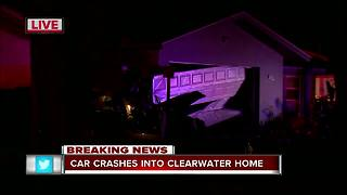 Driver crashes vehicle into home in Clearwater - Video