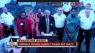 Seminole Heights suspect pleads not guilty to four counts of premeditated murder - Video