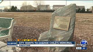 Firestone wants to change child's memorial - Video