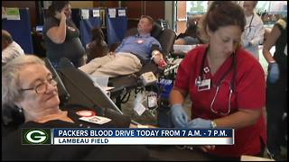 Green Bay Packers blood drive - Video