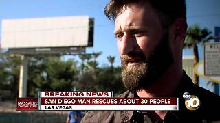 San Diego Marine rescues dozens from mass shooting - Video