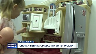 Church steps up security after incident