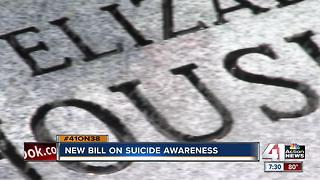 New suicide prevention, awareness bill follows reporting on teen suicides in KC area