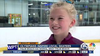 Olympic athletes inspire young Florida figure skaters - Video
