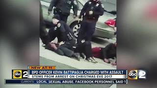 BPD Officer Kevin Battipaglia charged with assault - Video