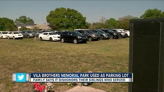 Vila Brothers Memorial Park used as parking lot