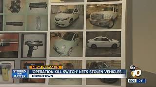 Opperation kill switch nets stolen vehicles - Video