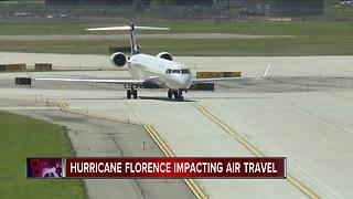 Here's a list of airline travel waivers and alerts for Hurricane Florence