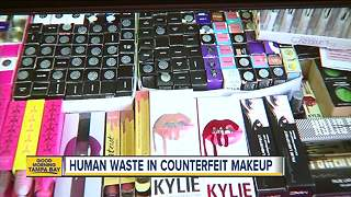 Police find animal waste in counterfeit makeup