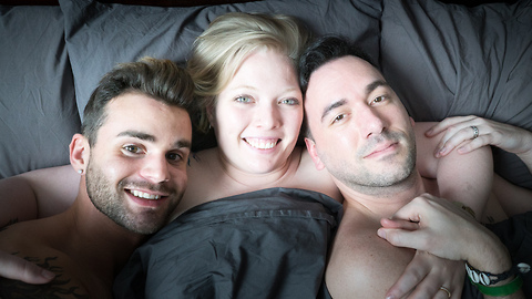 Two Men And A Woman Share A Unique Menage A Trois