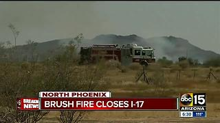 Brush fire forces closures on I-17, Loop 303