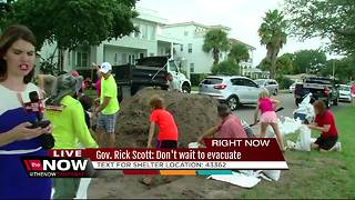 Governor Scott urges people not to wait to evacuate - Video