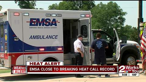 EMSA close to breaking heat-related call total from last year