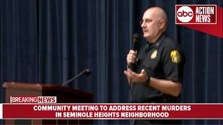 Community meeting to address recent murders - Video