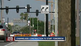 Channelside construction to start tomorrow