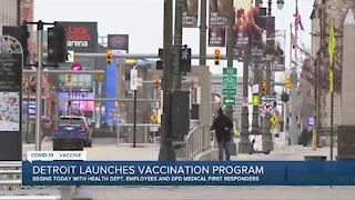 Detroit launches COVID-19 vaccination program Wednesday