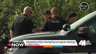 Independence police investigate two shootings - Video