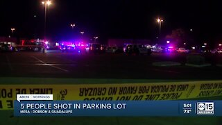 At least 5 people shot in Mesa parking lot