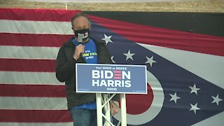 Kamala Harris' husband, Doug Emhoff, visits Akron for 'Get Out The Vote' rally