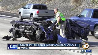 Driver killed after losing control of car in La Mesa - Video