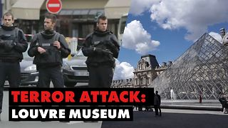 Machete attack on Paris soldier causes shots fired - Video
