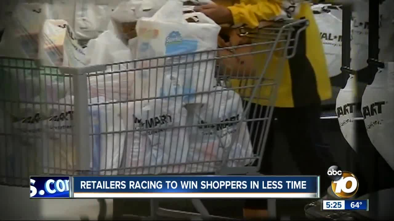 Fewer holiday shopping days