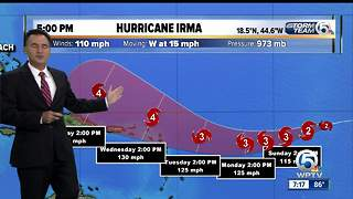 Saturday Evening Hurricane Irma Tropical update - Video