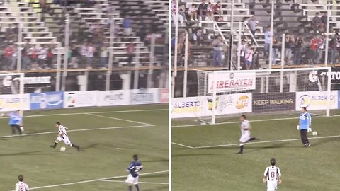 Footballer proves it's possible to score without touching the ball