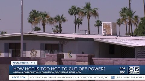How hot is too hot to cut off power to Valley residents?