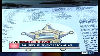 Indiana Police Memorial car at Lt. Aaron Allan's funeral - Video