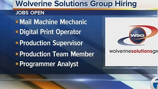 Wolverine Solutions Group looking to fill several positions - Video