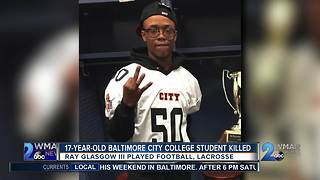 17 year old baltimore city college student killed - Video