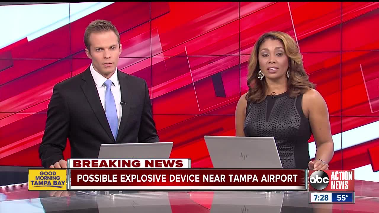 Possible explosive device near Tampa International Airport