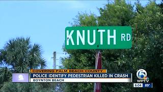 Police identify pedestrian killed in crash - Video