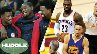 Should NBA Players Be Allowed in 3-on-3 Olympics? Will the Warriors Blow ANOTHER Lead? -The Huddle - Video