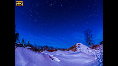 Magical Snow Dune Sunset and Moonset Star Lapse 5K