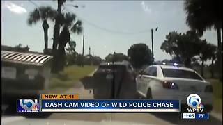 Dash cam video of wild police chase - Video