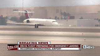 Delta flight makes emergency landing at McCarran - Video