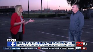 Stan Greene discusses KHSD decision to suspend in-person athletic activities