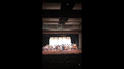 A performance by the North Harford High School orchestra